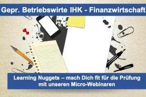 Fit für die Prüfung - IHK Betriebswirte (m-w-d) - Finanzwirtschaft